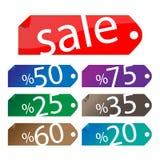 Verkaufs-Aufkleber-Set Stockbild