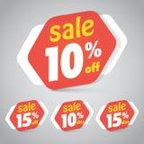 Verkaufs-Aufkleber-Tag für das Vermarkten des Kleinelement-Designs stockfoto
