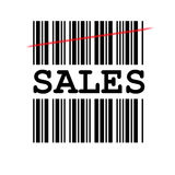 Verkaufs-Barcode Stockfotografie