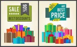 Verkaufs-beste Rabatt-super heiße Preis-Endsumme stock abbildung