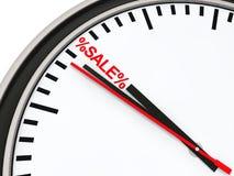 Verkaufs-Borduhrrot der Zeit 3d vektor abbildung