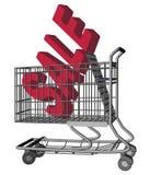 Verkaufs-Einkaufswagen Lizenzfreie Stockfotos