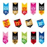Verkaufs-Fahnen Stockbilder