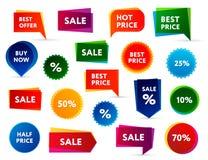 Verkaufs-Fahnen Stockfotos