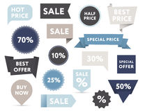 Verkaufs-Fahnen Lizenzfreies Stockfoto
