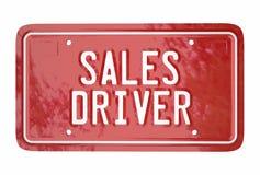 Verkaufs-Fahrer-Top Seller Car-Fahrzeug-Kfz-Kennzeichen-Wörter lizenzfreie abbildung