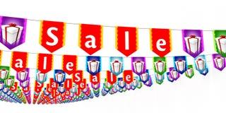 Verkaufs-Flaggen Lizenzfreies Stockfoto