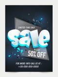 Verkaufs-Flieger-, Plakat- oder Fahnendesign Lizenzfreies Stockbild