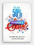 Verkaufs-Flugschrift für amerikanischen Unabhängigkeitstag Stockbild