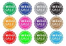 Verkaufs-Ikonen-Sammlung Stockfotos