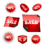 Verkaufs-Ikonen-Set Stockfotos