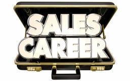 Verkaufs-Karriere Job Position Selling Business Briefcase Stockbilder