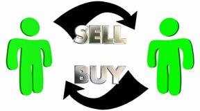 Verkaufs-Kauf-Verkaufs-Prozesskunden-Abschluss-Abkommen stock abbildung
