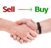 Verkaufs-Kaufkonzept Stockbild
