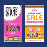 Verkaufs-Netz-Fahnen für Muttertagfeier Lizenzfreies Stockbild