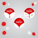 Verkaufs-Origami-Fahnen eingestellt stock abbildung