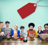 Verkaufs-Rabatt-Aufkleber-Tag-Handels-Konzept Lizenzfreie Stockfotos