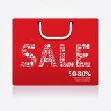 Verkaufs-Rabatt-Einkaufstasche angeredet Bekanntmachen der Fahnen Vektor vektor abbildung