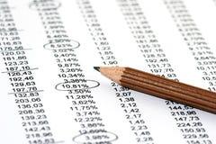 Verkaufs-Report Lizenzfreie Stockbilder