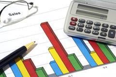 Verkaufs-Report Stockfotos
