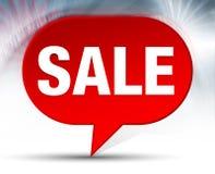 Verkaufs-roter Blasen-Hintergrund lizenzfreie abbildung