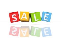 Verkaufs-Schablone - Bild der Wiedergabe-3D Stockbild