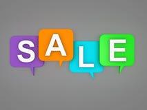Verkaufs-Schablone - Bild der Wiedergabe-3D Lizenzfreie Stockfotografie