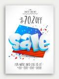 Verkaufs-Schablone für amerikanischen Unabhängigkeitstag Stockbild