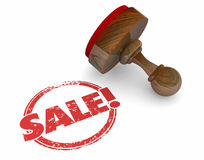 Verkaufs-Stempel-Wort-Abkommen-Vereinbarungs-Rabatt-Angebot stock abbildung