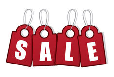Verkaufs-Tag-Wort Lizenzfreie Stockfotos