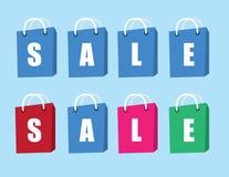 Verkaufs-Text-Einkaufstaschen Lizenzfreies Stockfoto