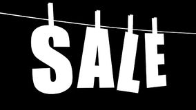 Verkaufs-Text (Schleife mit Lech) stock footage