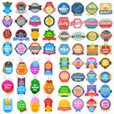 Verkaufs- und Förderungsaufkleber etikettieren Aufkleber für Anzeige stock abbildung