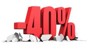 Verkaufs- und Rabattanzeigenkonzept Lizenzfreie Stockfotografie