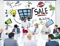 Verkaufs-Verkäufe, die Finanzeinkommens-nominal-Einkommen-Zahlungs-Konzept verkaufen stockfotografie