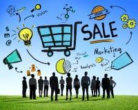 Verkaufs-Verkäufe, die Finanzeinkommens-nominal-Einkommen-Zahlungs-Konzept verkaufen stockbild