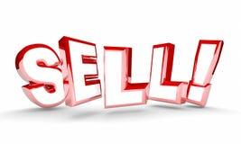Verkaufs-Verkaufs-Wort-Abkommen-Vereinbarungs-neuer Kunde stock abbildung