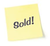 Verkaufsanmerkung Lizenzfreies Stockbild