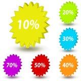 Verkaufsaufkleber Stock Abbildung