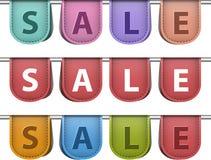 Verkaufsaufkleber Stockfotos