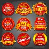 Verkaufsaufkleber Lizenzfreies Stockfoto