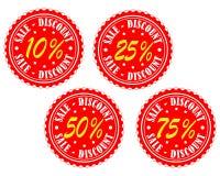 Verkaufsaufkleber Lizenzfreie Stockbilder