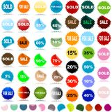 Verkaufsaufkleber Stockfotografie