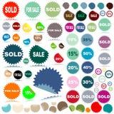 Verkaufsaufkleber Stockbild