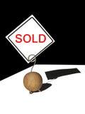 Verkaufsaufkleber auf einem Klipp Lizenzfreie Stockbilder