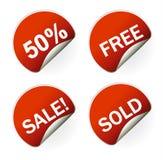 Verkaufsaufklebermarke mit verbilligtem Prozentsatz Lizenzfreie Stockfotos