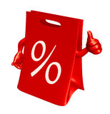 Verkaufsbeutel mit dem Daumen oben Lizenzfreies Stockbild