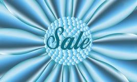 Verkaufsblauplakat Stockbild