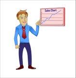 Verkaufsdiagramm Lizenzfreie Stockfotos