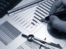 Verkaufsdiagramme Lizenzfreie Stockfotos
